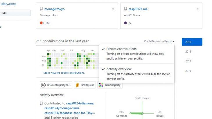 ContributterにプライベートレポジトリのContributionを含めてあげる方法